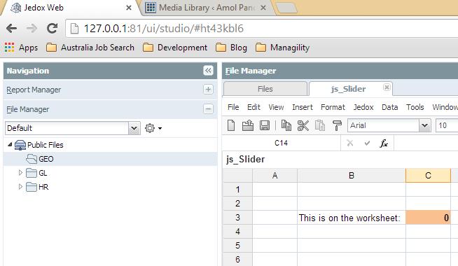 Jedox Web Reports: Slider (jQuery UI) – Amol Pandey